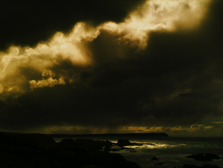 Landscape photo of storm clouds near Ballintoy, Northern Ireland by photographer Stephen S T Bradley - photo 2413 photo icon.