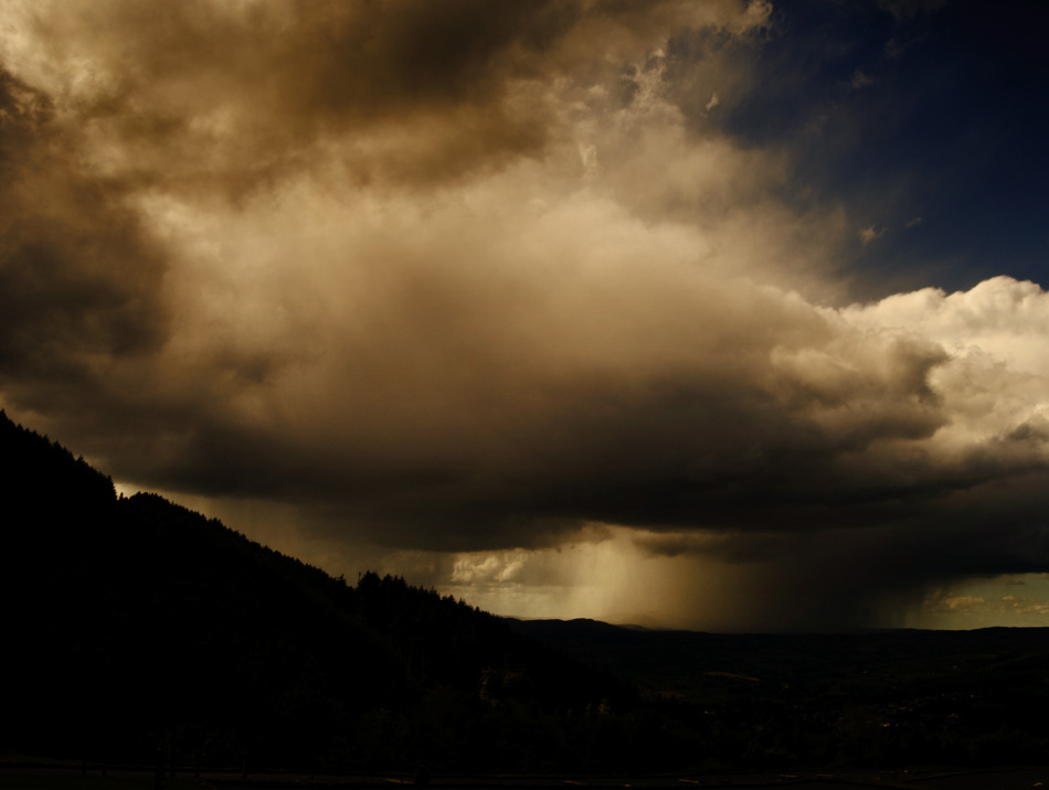 Photo icon of storm clouds over Rostrevor Northern Ireland - fine art landscape photo by photographer Stephen S. T. Bradley.
