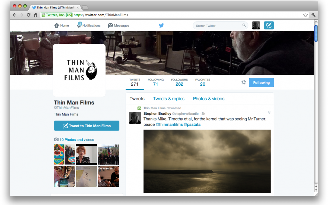Thin Man Films retweet