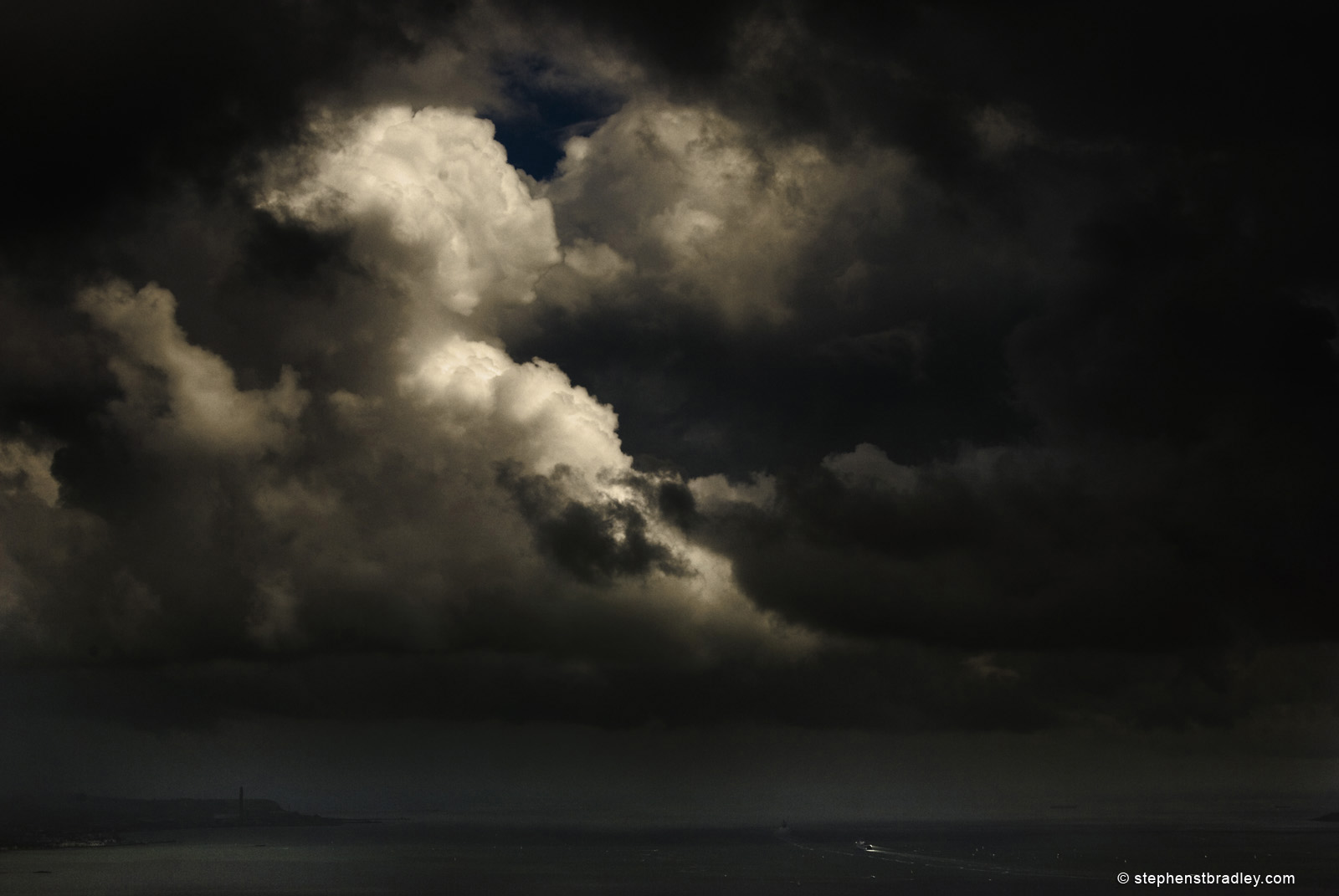 Belfast Lough beneath dramatic sky by Stephen Bradley, fine art photo 2658.