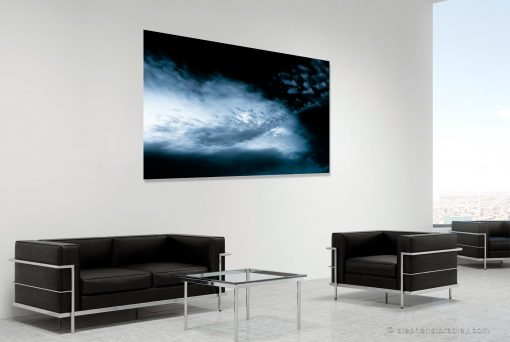 Intersection - fine art landscape photograph 5392 by photographer Stephen S T Bradley shown in room setting.